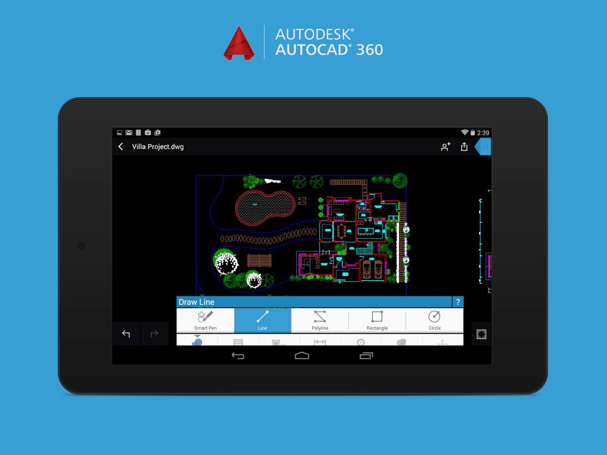 تحميل احدث نسخة من برنامج الرسم الهندسى اوتوكاد Autocad 360 Pro كامل للاندرويد
