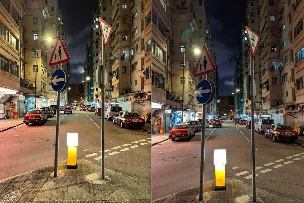 Two night shots with the iPhone 12 and Pixel 5.