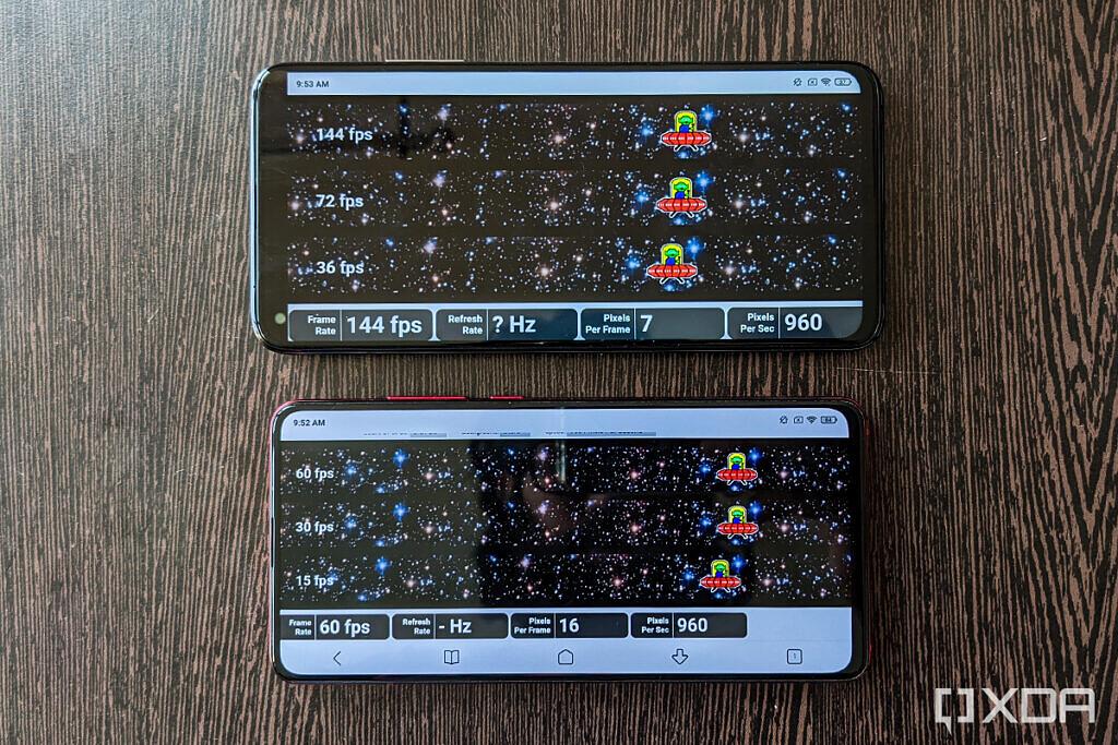 Xiaomi Mi 10T 9T Pro xda display review grey frame rate ufo test