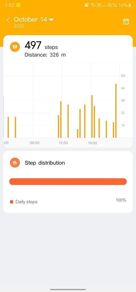 عداد خطوات تطبيق Xiaomi Wear