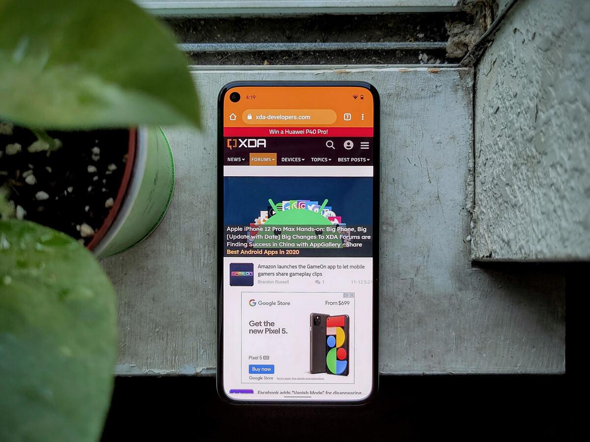 Google Pixel 5 display review