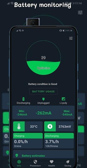 برنامج BatteryGuru MOD APK – Battery Monitor & Saver تحميل اخر اصدار 2021 كاملة 2